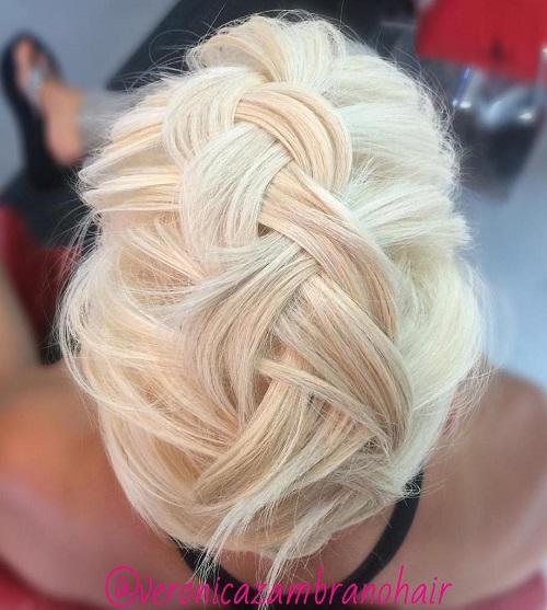 blonde braided updo