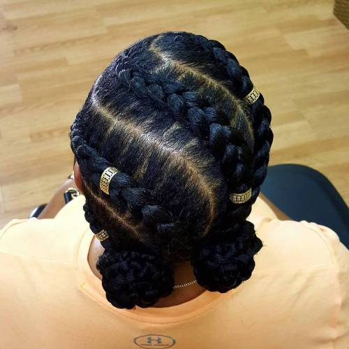 Big Diagonal Goddess Braids