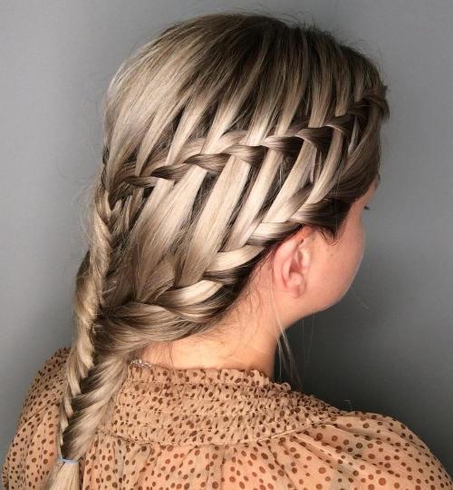 Double Waterfall Braid For Balayage Hair