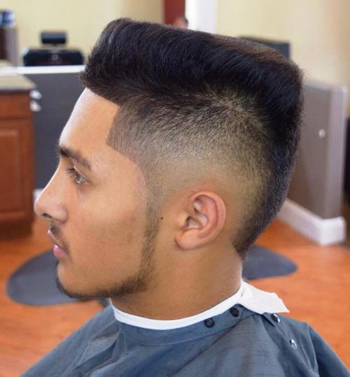 flat top with angled edges and fade