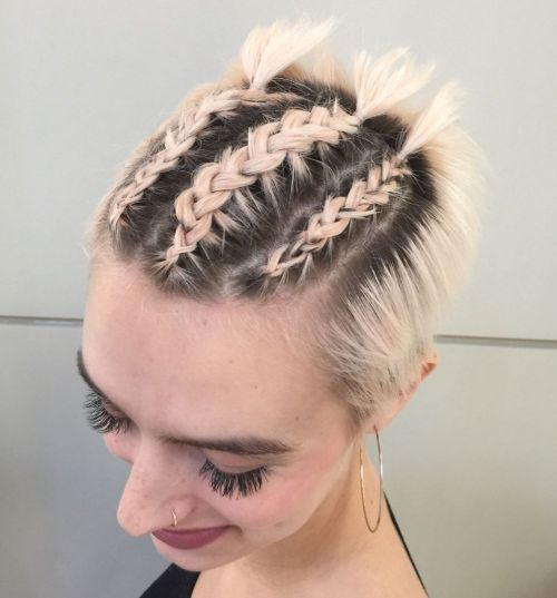 Three Braids For Short Hair
