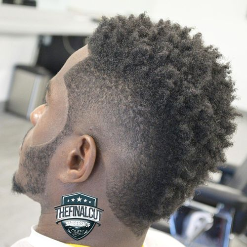 black men's mohawk for natural hair