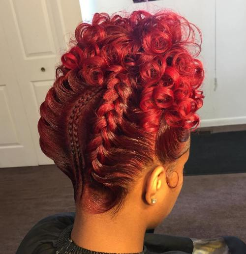 Goddess Braids With Curls Updo