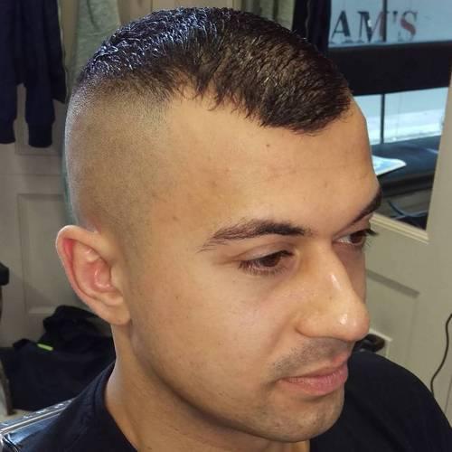 Shaved high tight haircut