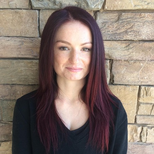 Red brown ombre hair color