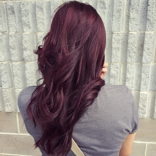 burgundy hair color idea