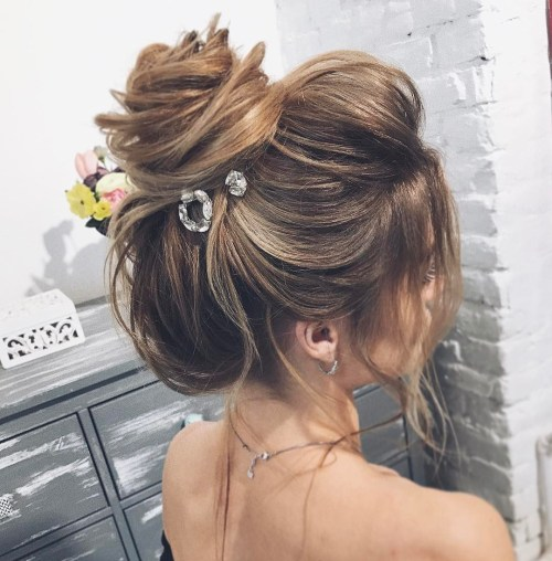 Loose Messy Bun For Prom