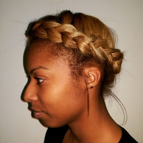 milkmaid braid for african american women