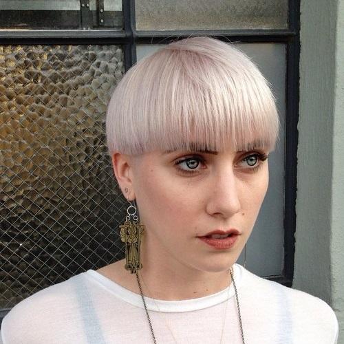 Ash Blonde Bowl Cut