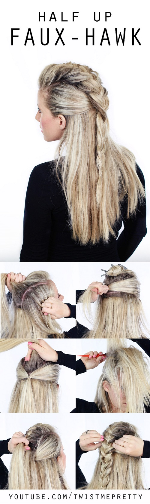 Diy Fauxhawk Braid Step By Step