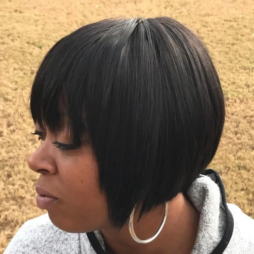 Short Black Bob Weave