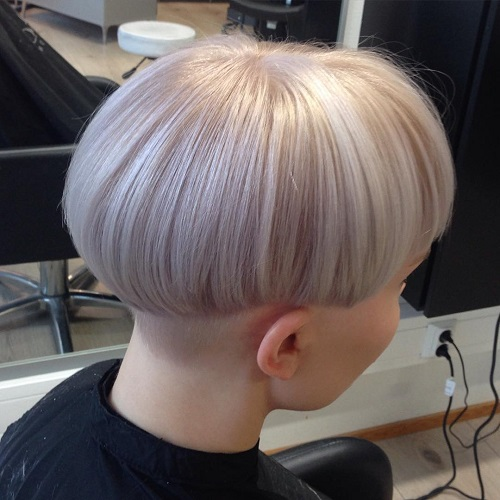 Silver Blonde Bowl Cut