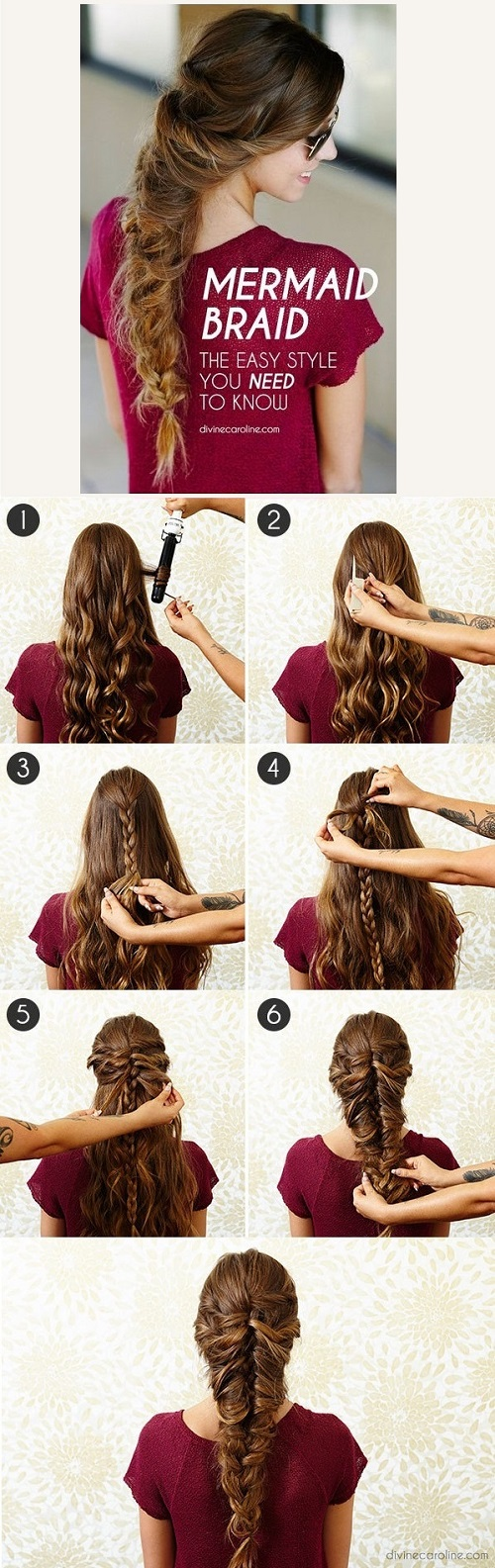 17 hair tutorials you can totally diy diy mermaid braid for long hair solutioingenieria Image collections