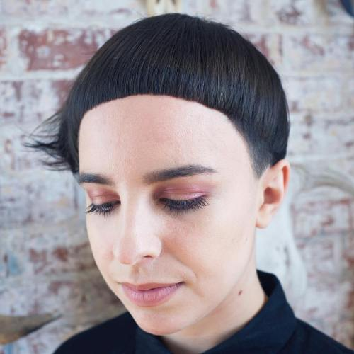 Extra Short Asymmetrical Bowl Cut