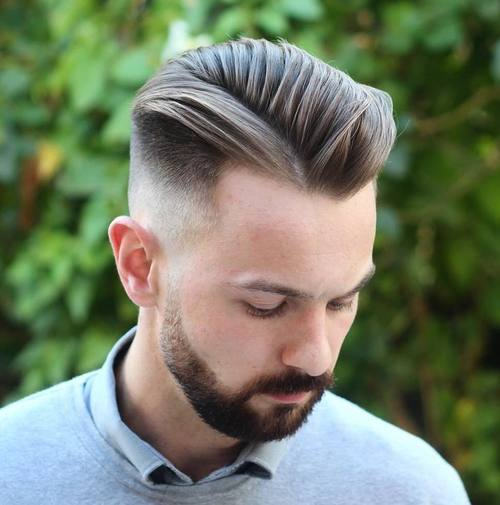 long top fade hairstyle for receding hairline