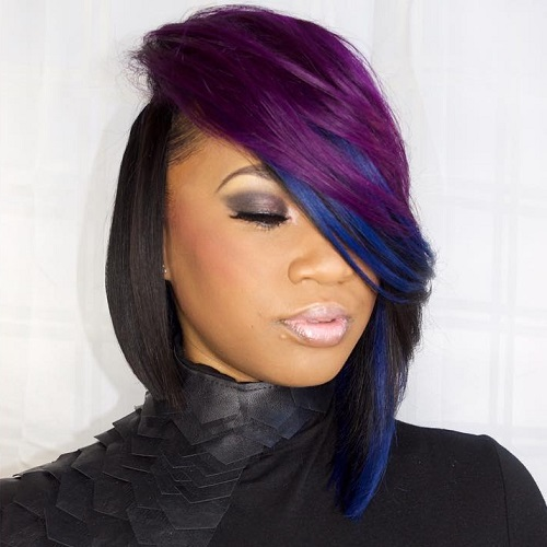 Asymmetrical Bob Weave Hairstyles | 35 short weave hairstyles you can easily copy