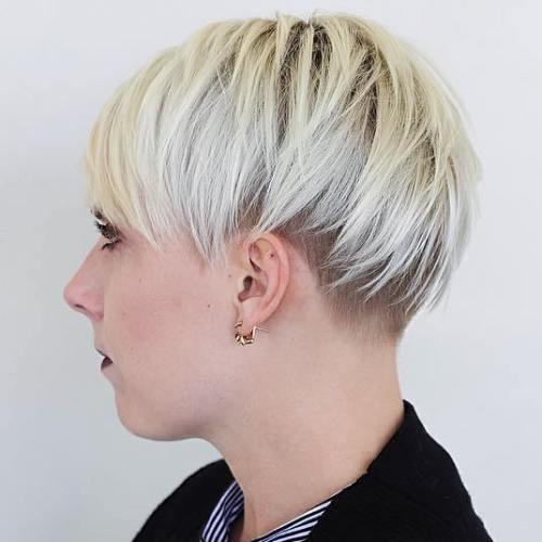 Short Blonde Undercut For Women