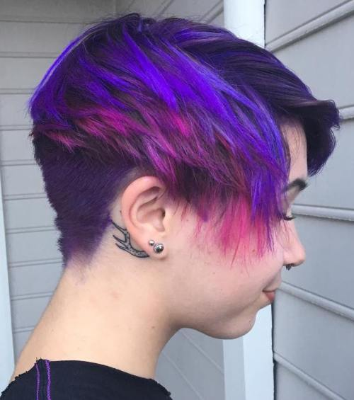 Purple Colored Bowl Cut