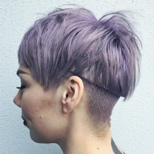 Pastel Purple Undercut Haircut