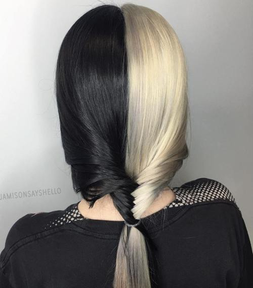Black And Platinum Hair