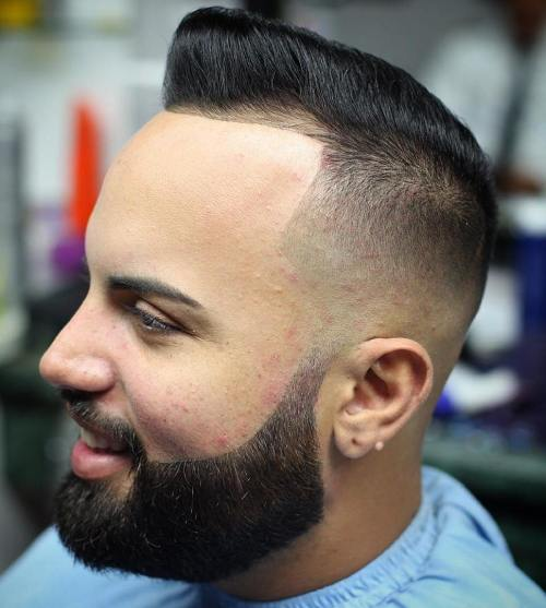 Pompadour With Line Up For Thin Hair
