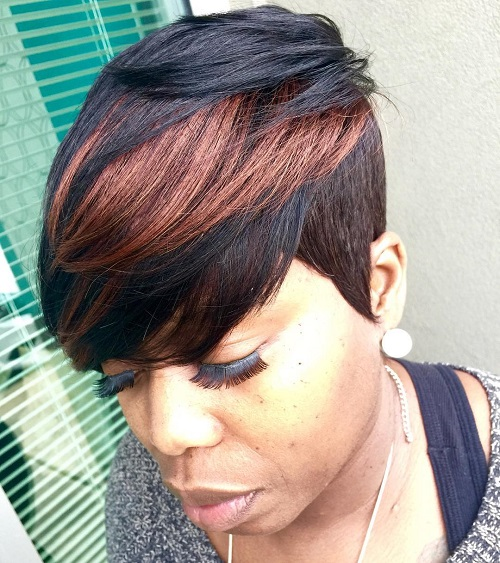 Two-Tone Short Weave Hairstyle