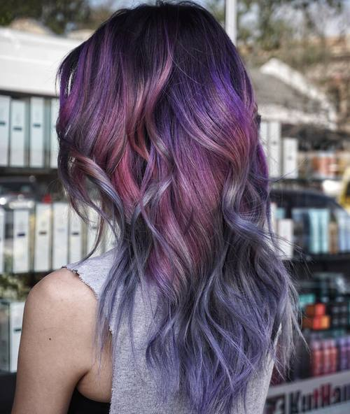 Pink And Purple Mermaid Hair: 20 Gorgeous Mermaid Hair Ideas From Vibrant To Pastel