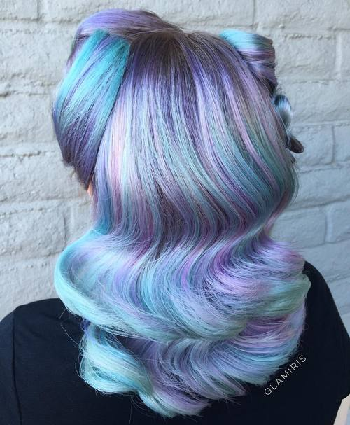 Lavender And Mint Hair Color