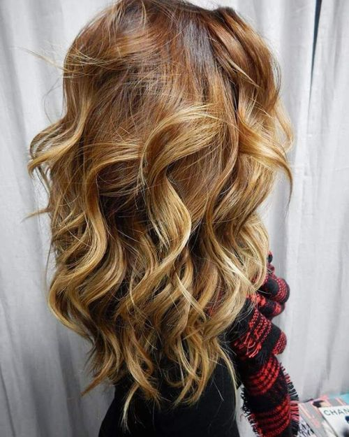 Caramel And Blonde Balayage Hair