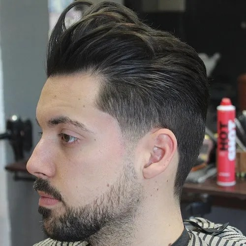 Taper With Pompadour Bangs