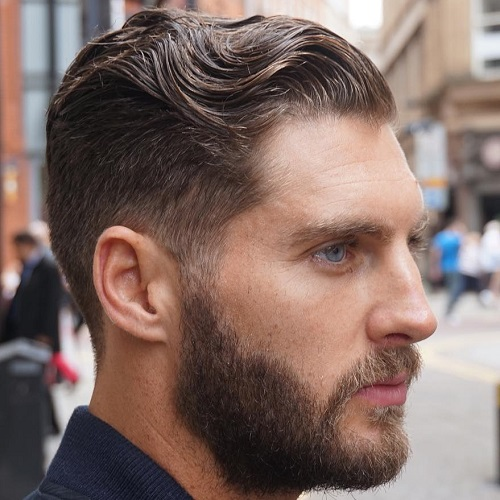 High Quality Vintage Taper Hairstyle For Men