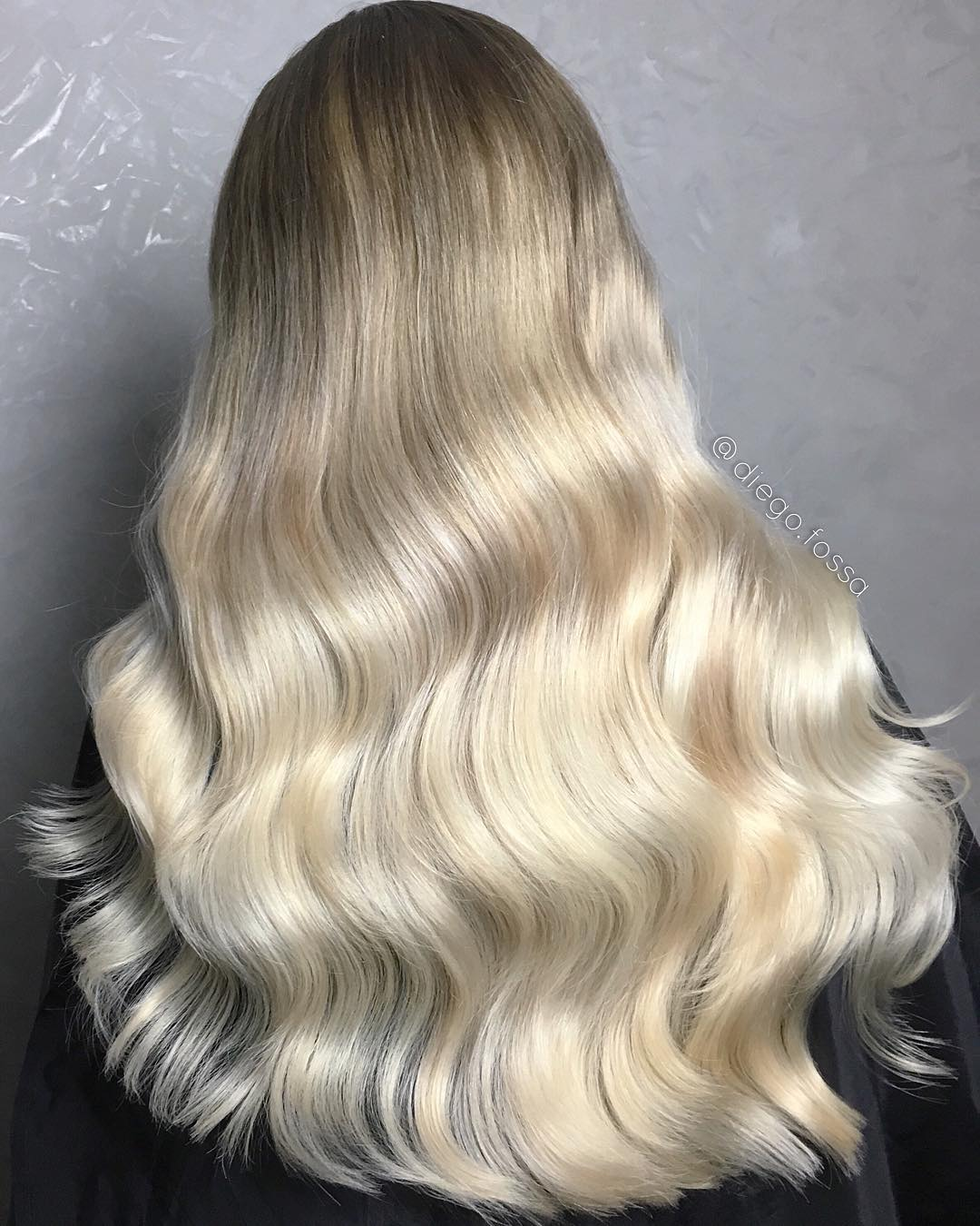 Long White Blonde Ombre Hair
