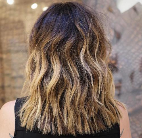 Medium Length Bronde Ombre Balayage