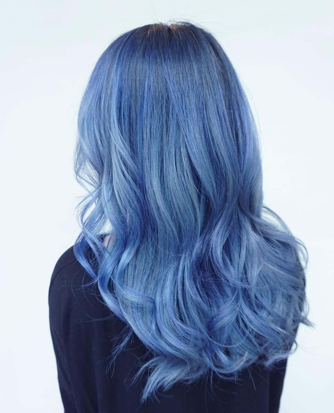 How To Dye Natural Silver Hair Blue