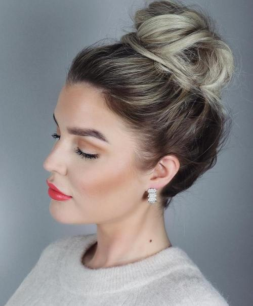 high bun hair styles 20 and easy hairstyles for work 3227
