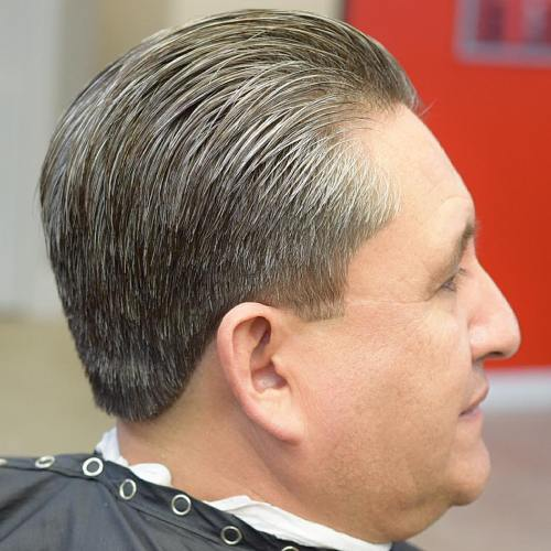 Slicked Back Taper For Older Men