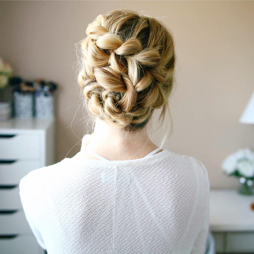 Braided Seashell Updo