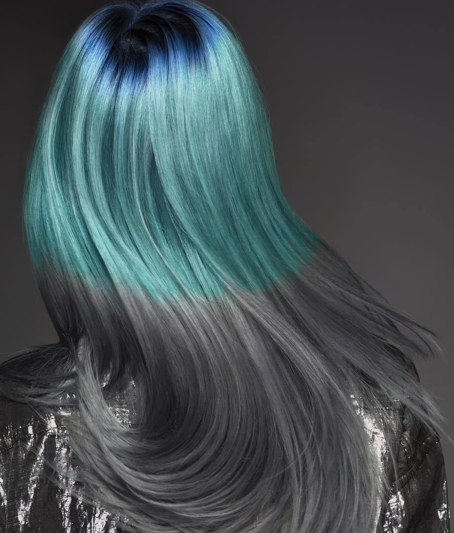 Pastel Green To Gray Ombre