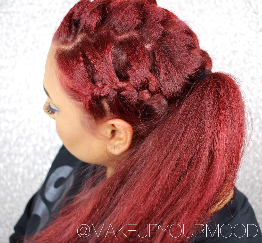 Three Braids And Ponytail For Long Hair