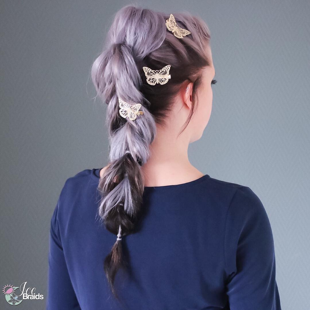 Pull Through Braid For Two-Tone Hair