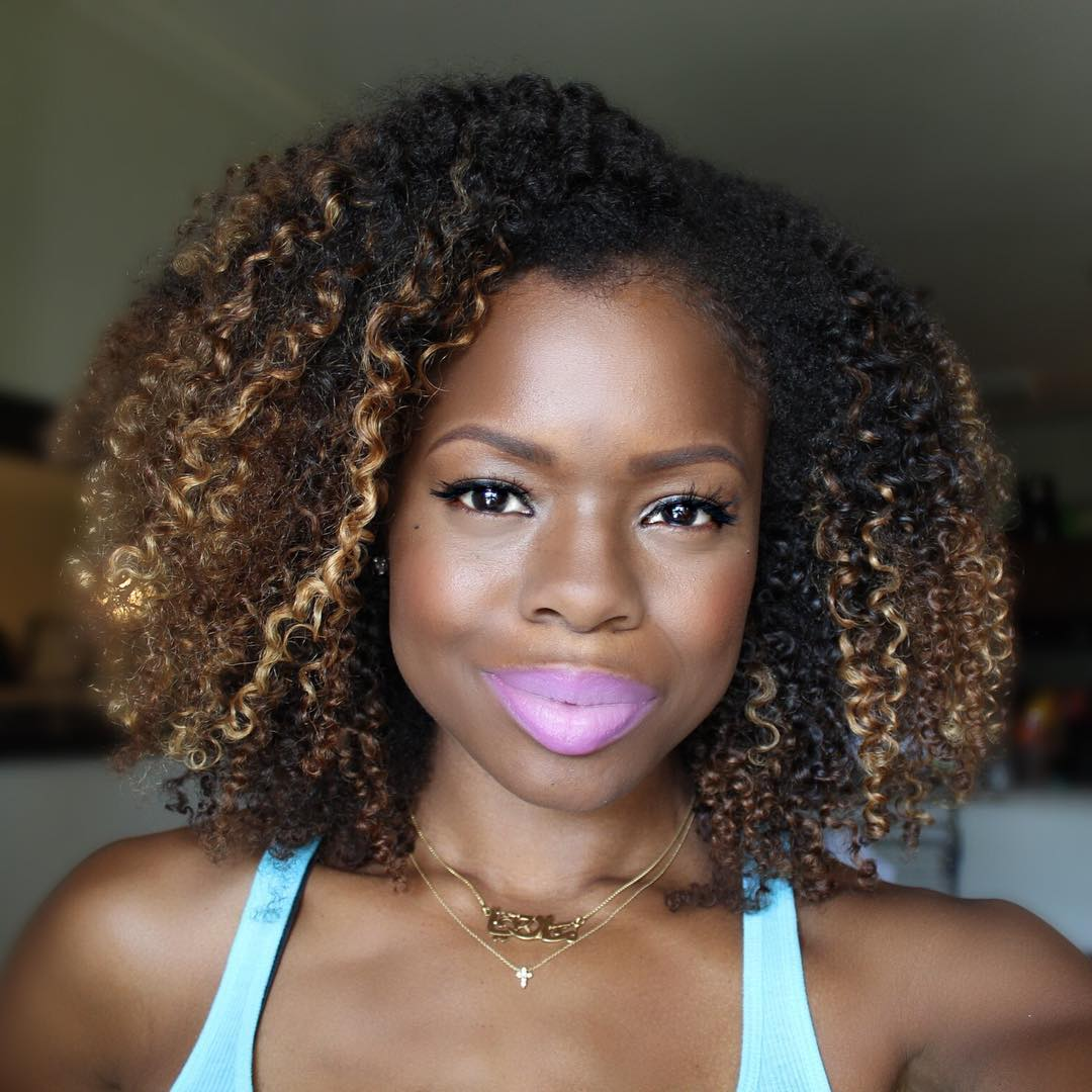 Hair color for dark skin women
