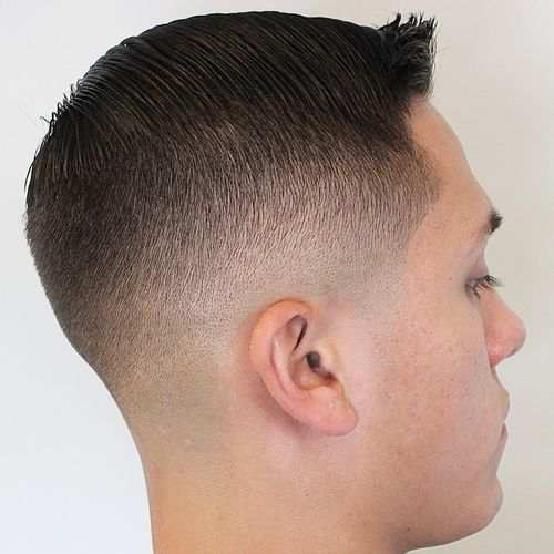 side parted crew cut