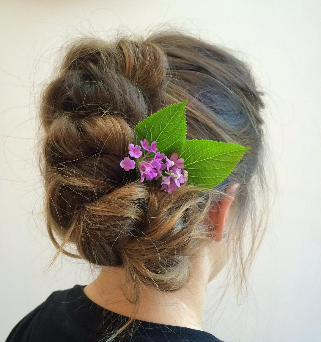 Messy Pull Through Braid Updo
