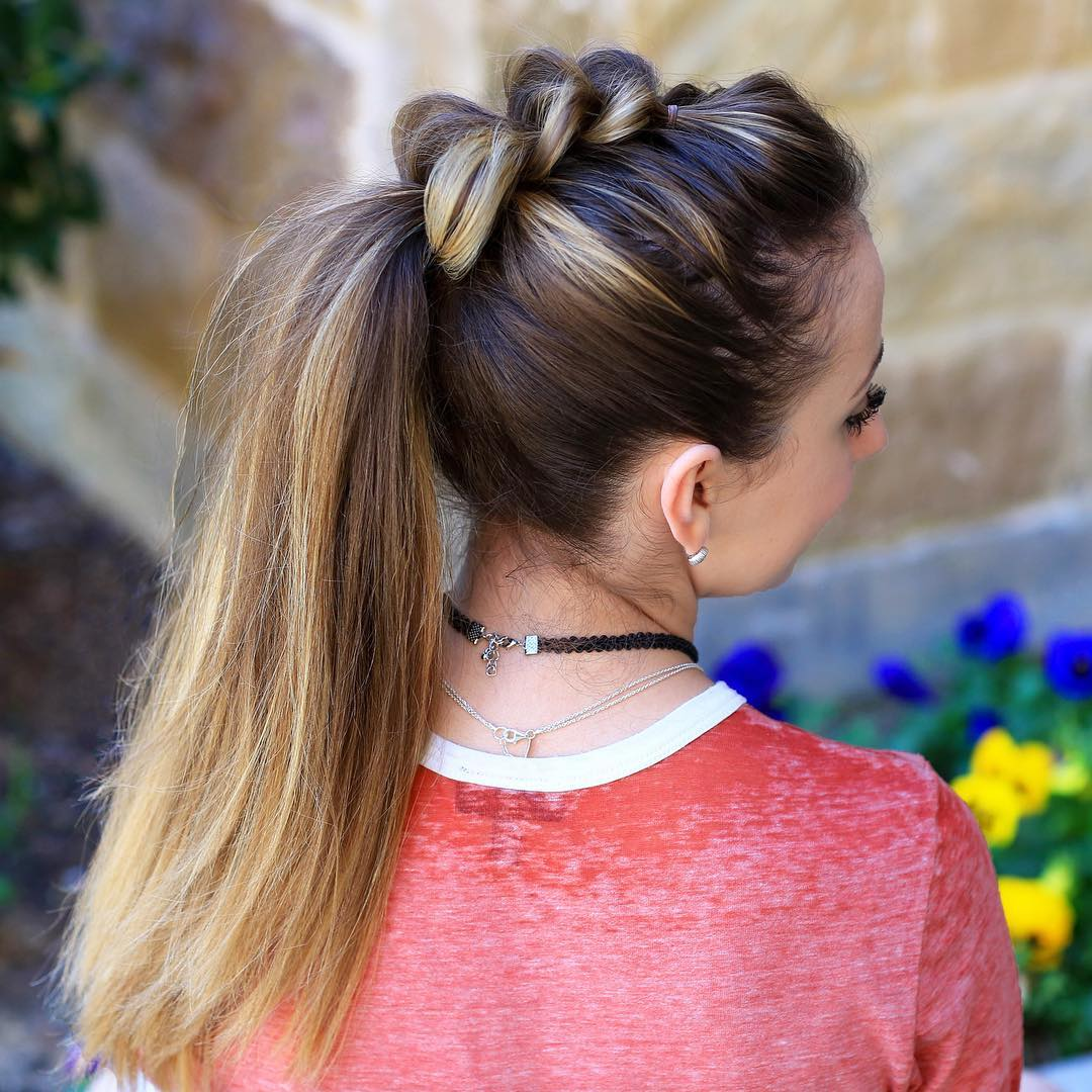 Mohawk Pull Through Braid And Ponytail