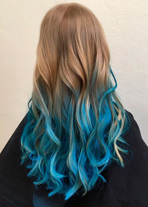 20 Dip Dye Hair Ideas – Delight for All! Light To Dark Dip Dye