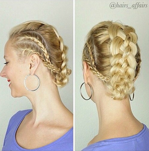 Mohawk Updo With Strand Braid