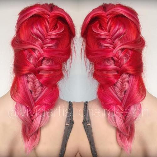 Scarlet To Pink Ombre