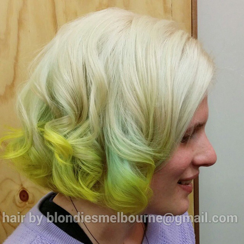 Lime Dip Dye For Blonde Hair