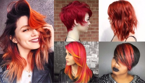 20 bright red hair color