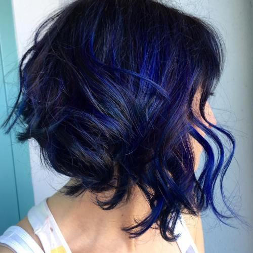 Strange 20 Dark Blue Hairstyles That Will Brighten Up Your Look Hairstyles For Men Maxibearus